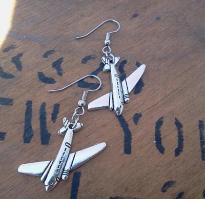 Flying High Airplane Earrings