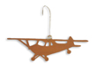 Cherry Wood Airplane Ornament