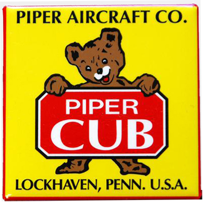 Piper Cub Fridge Magnet