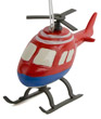 Red and Blue Helicopter Ornament