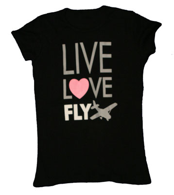 Live. Love. Fly Ladies T-Shirt
