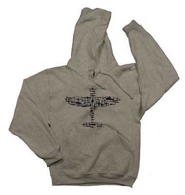 Plane Collage Hooded Sweatshirt