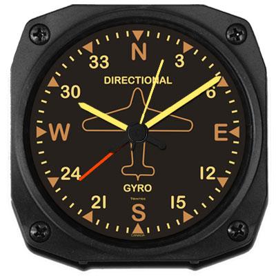 Vintage Directional Gyro Alarm Clock