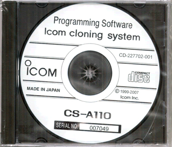 Icom CS-A110 - Cloning Software for IC-A110