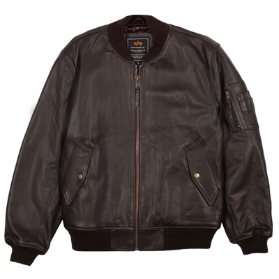 Alpha MA-1 Leather Flight Jacket - MyPilotStore.com