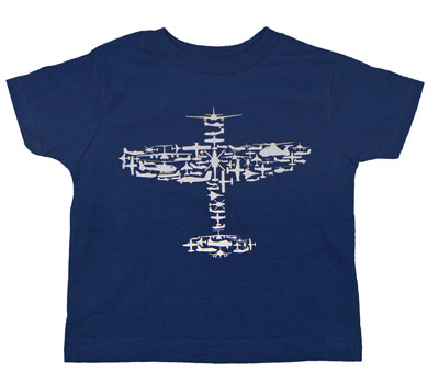 Kids Plane Collage T-Shirt