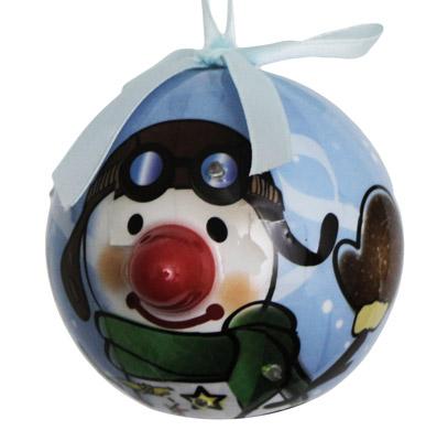 Pilot Snowman Lighted Ornament