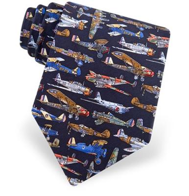 World War II Airplanes Tie
