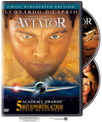 The Aviator with Leonardo DiCaprio (DVD or Blu-ray)