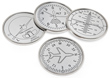 Nickel Plated Airplane Coasters - Set of 4