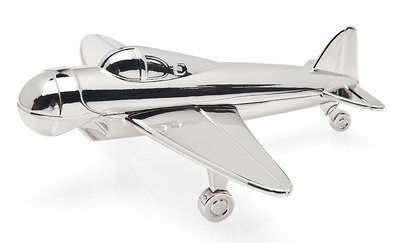 Nickel Plated Airplane Bottle Opener