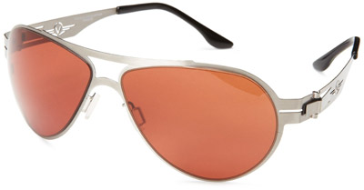VedaloHD F-18 Stritanium Sunglasses - Silver Frame / Copper-Rose Lens