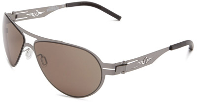 VedaloHD F-18 Stritanium Sunglasses - Gunmetal Frame / Smoke Lens
