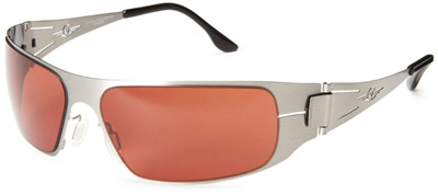 VedaloHD Lombardy Sunglasses - Silver Frame / Copper-Rose Lens