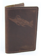 Leather Airplane Refillable Pocket Notebook