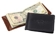 Leather Airplane Money Clip
