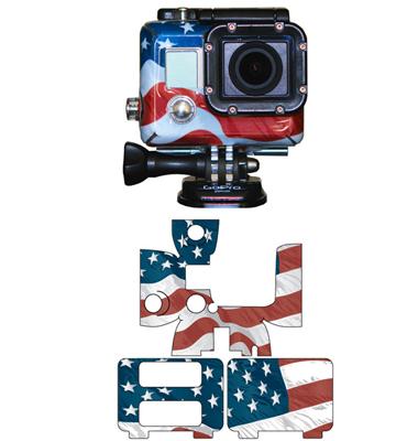 GoPro HERO2 / HERO3 American Flag Wrap