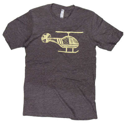 Helicopter Sketch T-Shirt