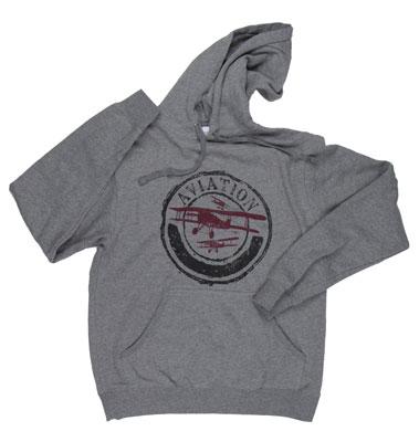 Vintage Aviation Hooded Sweatshirt