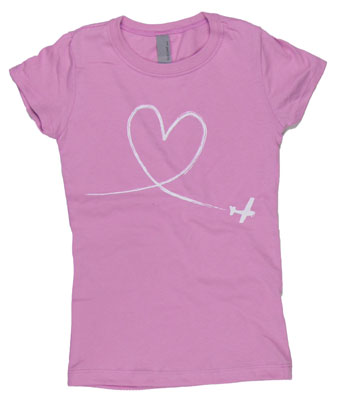 Girls Heart Skywriter T-Shirt