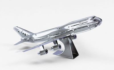 Commercial Jet 3D Laser Cut Model