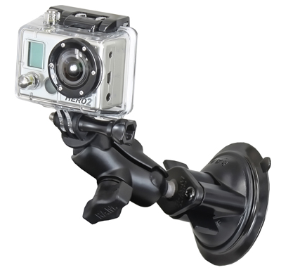 RAM Twist Lock Suction Cup Mount for GoPro Cameras