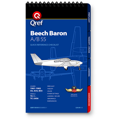 Beech Baron 55 Checklist Qref Book