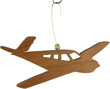 Beech Bonanza Cherry Wood Airplane Ornament