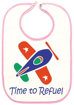 Time to Refuel Baby Bib - Pink