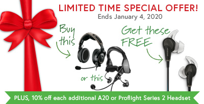 Bose A20 Aviation Headset (no Bluetooth) Special Offer