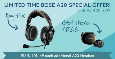 Bose A20 Aviation Headset with Bluetooth Special Offer