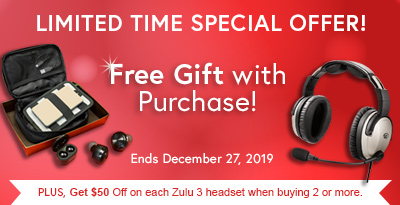 Lightspeed Zulu 3 Pilot Headset Special Offer