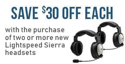 LightSPEED Sierra Headset Special Offer