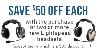Lightspeed PFX ANR Aviation Headset Special Offer