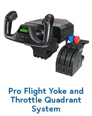 Pro Flight Yoke and Throttle Quadrant System