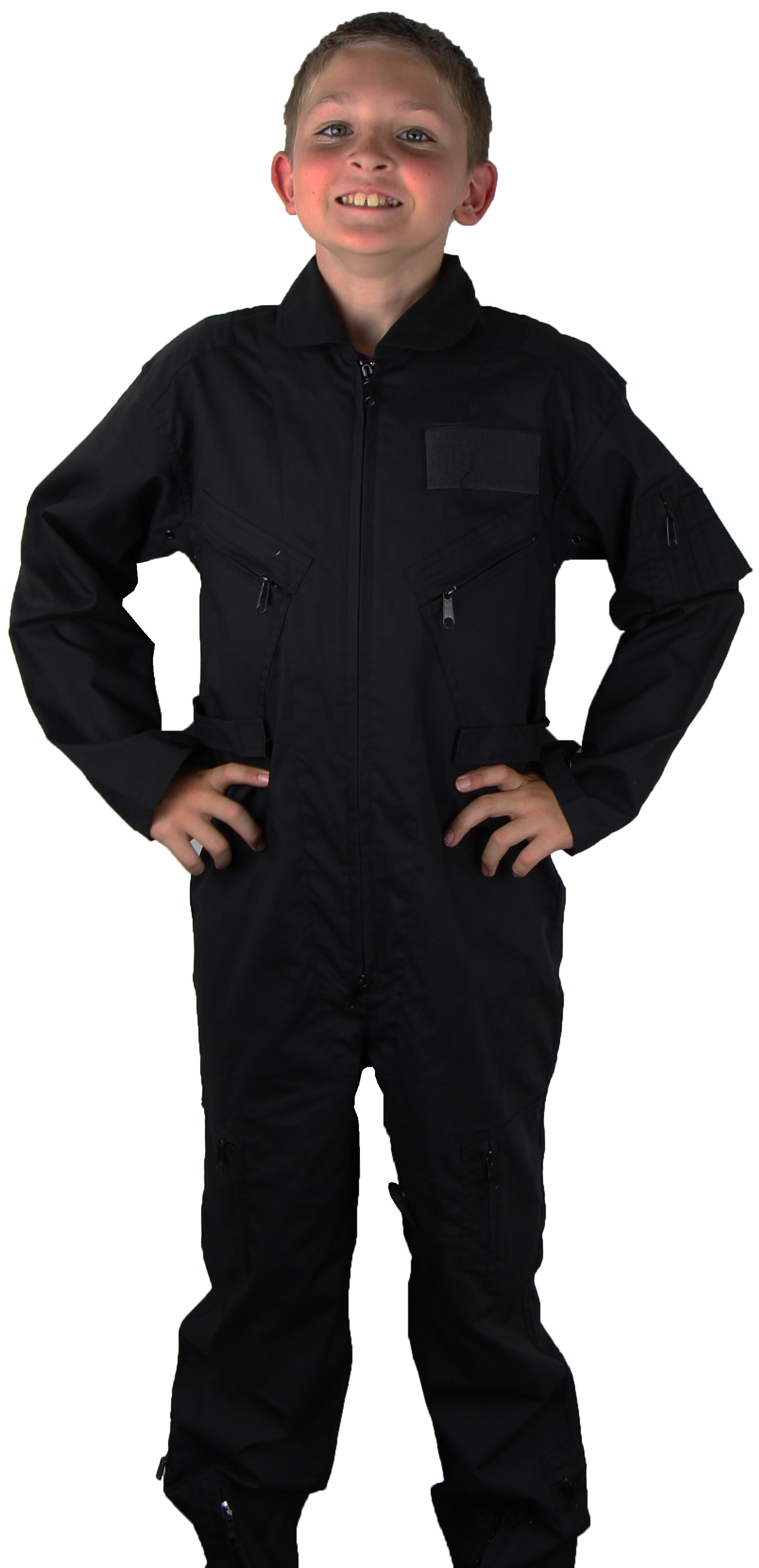 Kids Air Force Style Flight Suit Black Mypilotstore Com