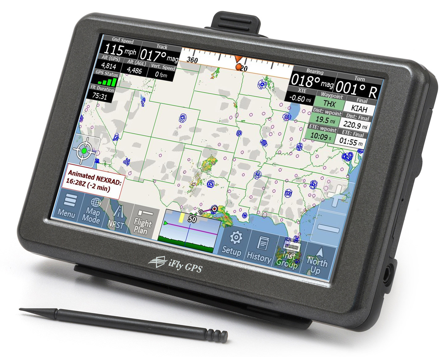 Ifly 520 Moving Map Gps For Pilots Aviation Knee Key Systems Wiring Diagram