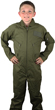 Kids Air Force Style Flight Suit - Olive Drab