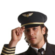 Airline Pilot Costume Hat - Adult