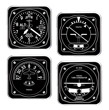 Black & White Aviation Instrument Acrylic Coaster Set