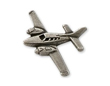 Beech Baron Airplane Pin - Silver