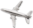Boeing 737 Airplane Pin - Silver