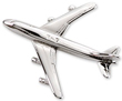 Boeing 747 Airplane Pin - Silver