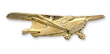 J-3 Cub Airplane Pin - Gold