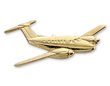 Beech King Air Airplane Pin - Gold