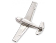 Piper Cherokee Airplane Pin - Silver