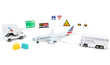 American Airlines 12 Piece Airport Play Set