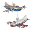 Four Engine Transport Airplane Ornaments - Set of 2