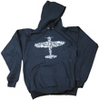 Plane Collage Hooded Sweatshirt  - Black