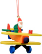 Christian Ulbricht Santa Flying Biplane Ornament